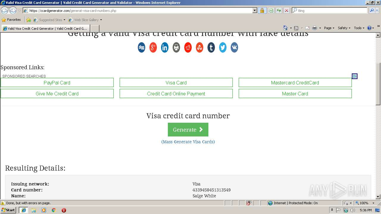 credit card generator software with valid cvv and expiration date