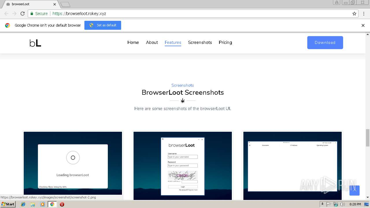 http://browserloot rokey xyz | ANY RUN - Free Malware