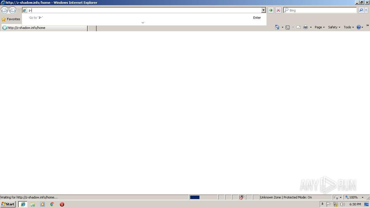 http://z-shadow info/home | ANY RUN - Free Malware Sandbox