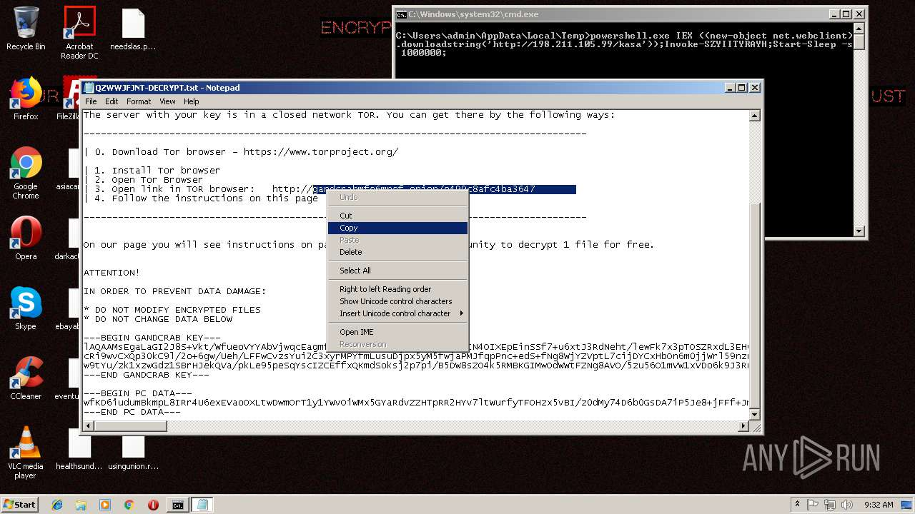Screenshot of da0c26e8b5431ecc98b7541919cfbb67f2f50a002d9f195375c44bfdfbc35799 taken from 150818 ms from task started