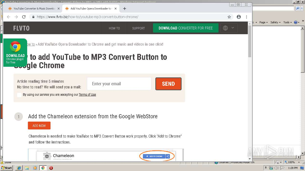 http://flvto biz   ANY RUN - Free Malware Sandbox Online