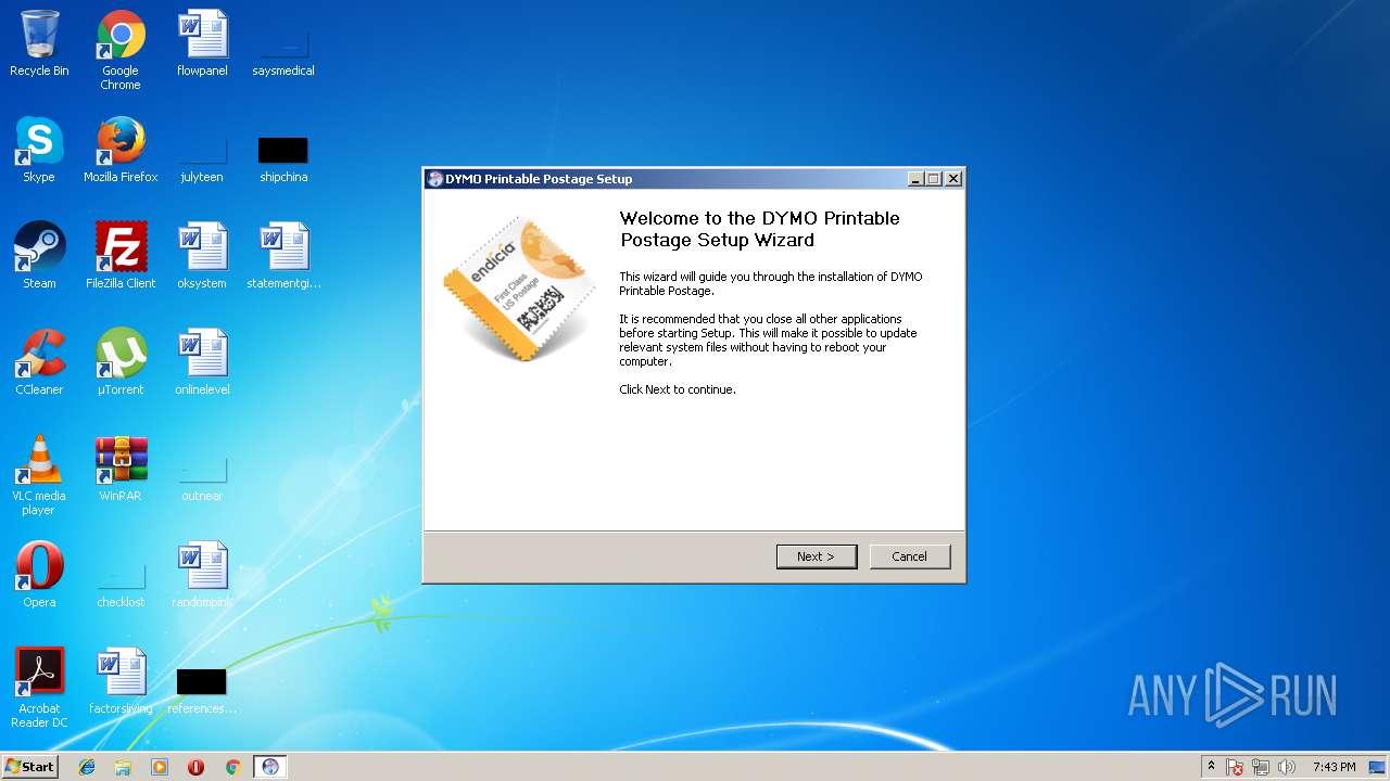 photo relating to Dymo Printable Postage named PrintablePostageSetup.exe