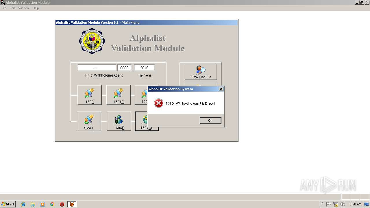 1604cf alphalist