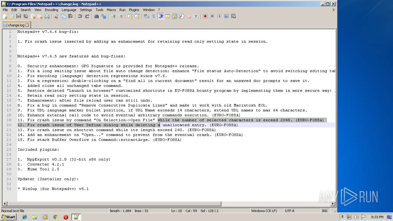 Screenshot of 9582fec10e6ca488ab506a96dfeb5da56c9425ca32a8481e060bd06893fb1b3e taken from 52676 ms from task started