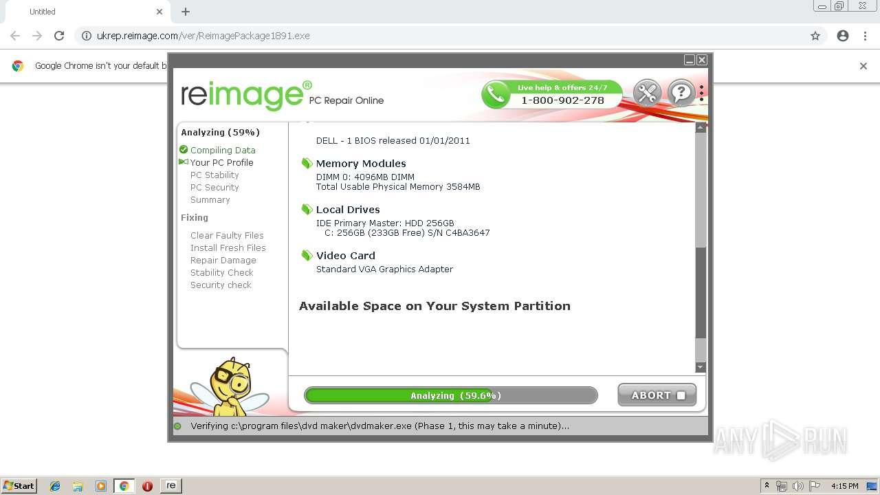 http://ukrep reimage com/ver/ReimagePackage1891 exe | ANY RUN - Free