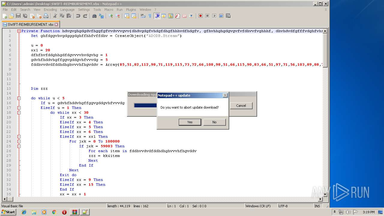 Screenshot of 8ff5f1c914adba93c92b52149f48dc47a73e5946b53b2f139a3ae53d4c3a25e2 taken from 199642 ms from task started