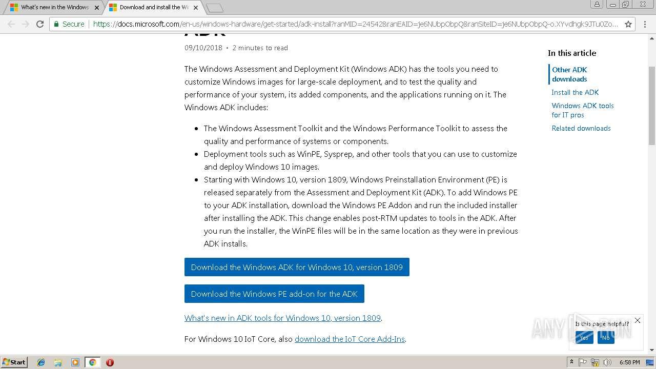 windows adk download windows 10