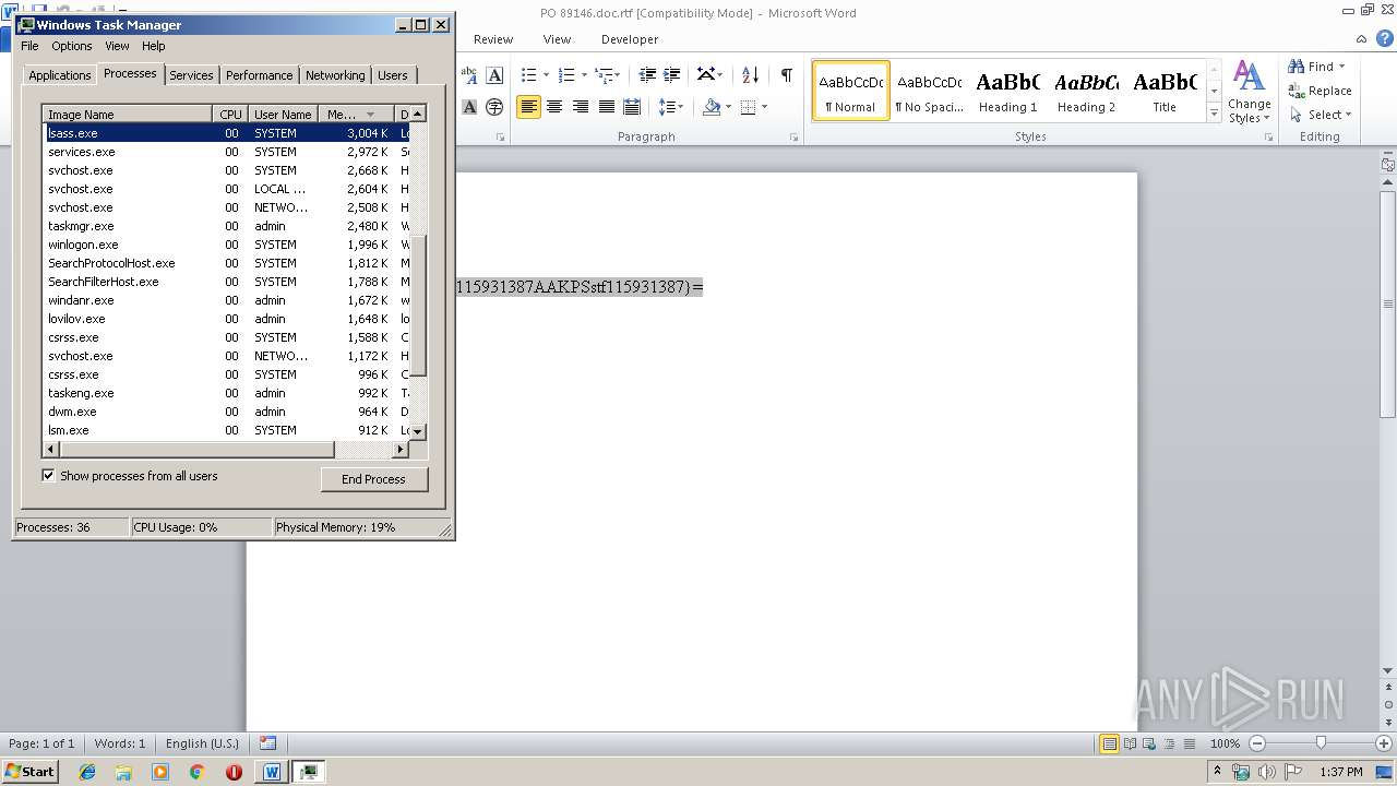 Screenshot of b5cedb5c1886c744a44aa9bbe2ff2692c96f9ff47ec663a476249204333fa36a taken from 42020 ms from task started