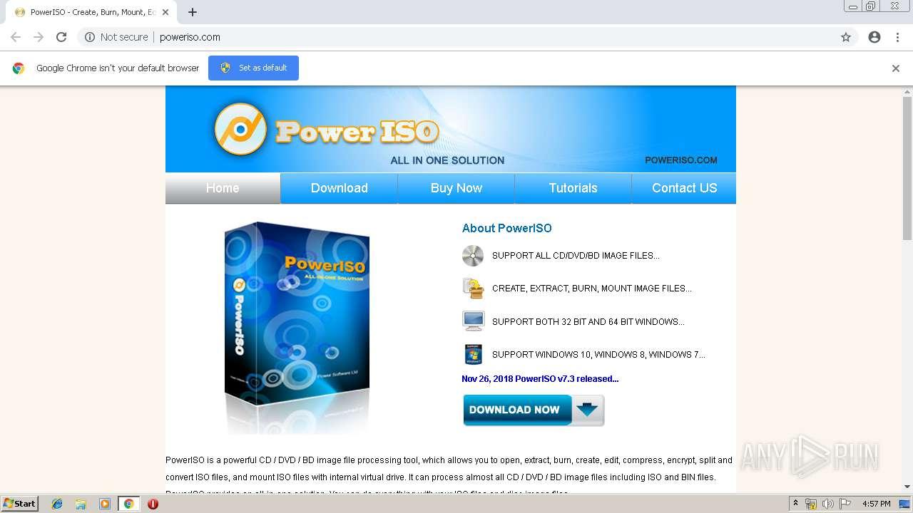 http://poweriso com | ANY RUN - Free Malware Sandbox Online