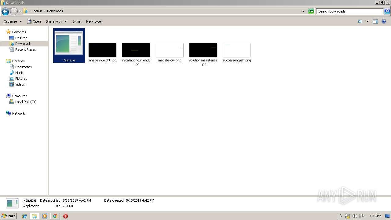 http://chocolatey.org/7za.exe | ANY.RUN - Free Malware Sandbox Online