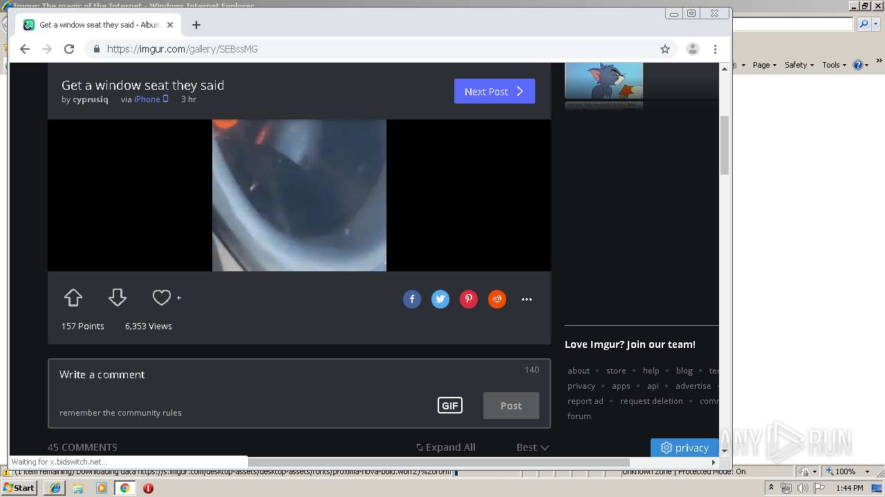 Screenshot of unknown taken from 65109 ms from task started