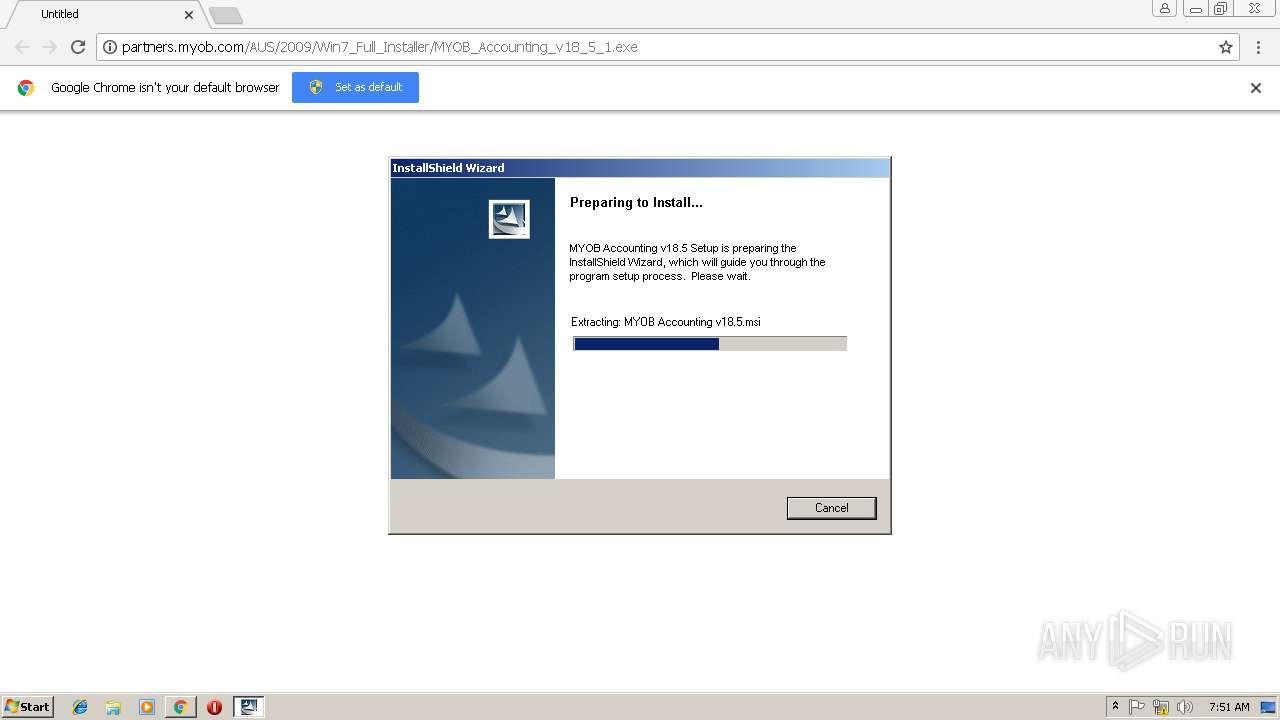http://partners myob com/AUS/2009/Win7_Full_Installer