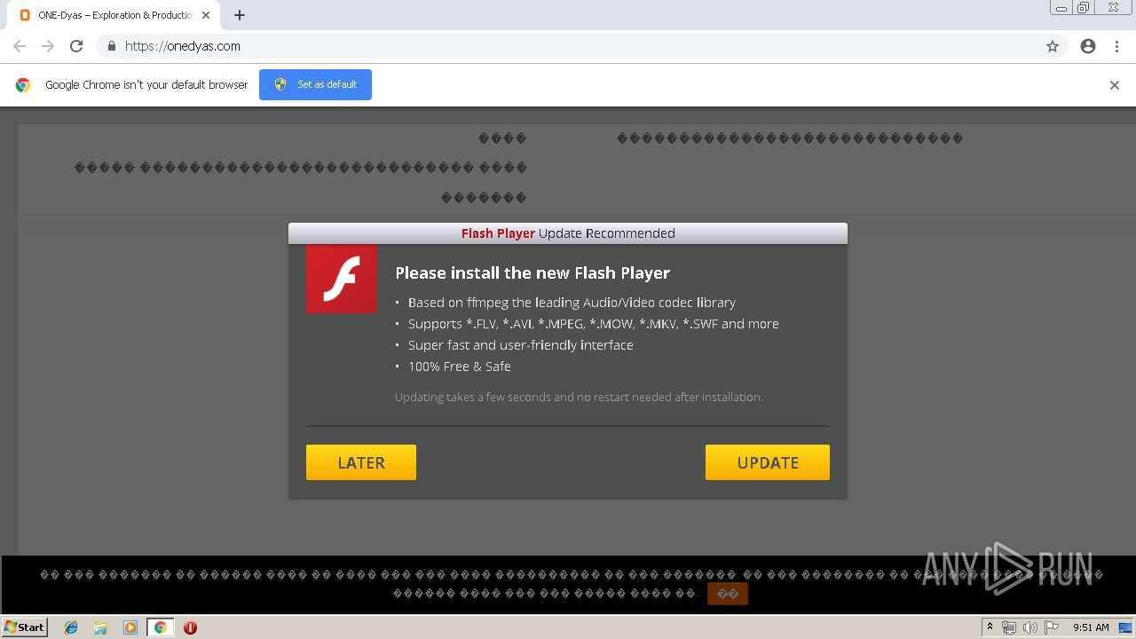 https://onedyas com | ANY RUN - Free Malware Sandbox Online