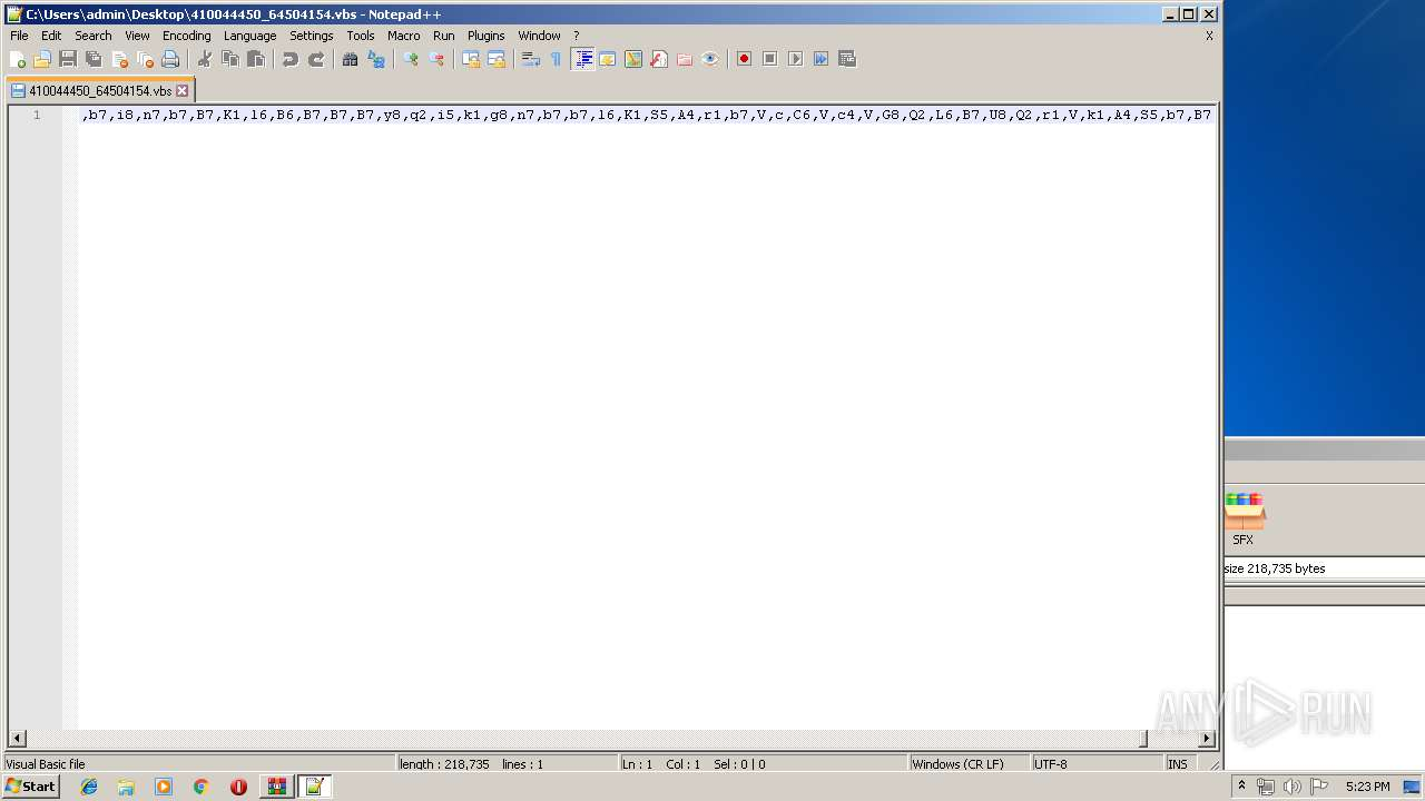 Screenshot of 9abed1a0728825c185c1b74010898654227fd11bfd77cd2b3c0eea491fa6439e taken from 206008 ms from task started
