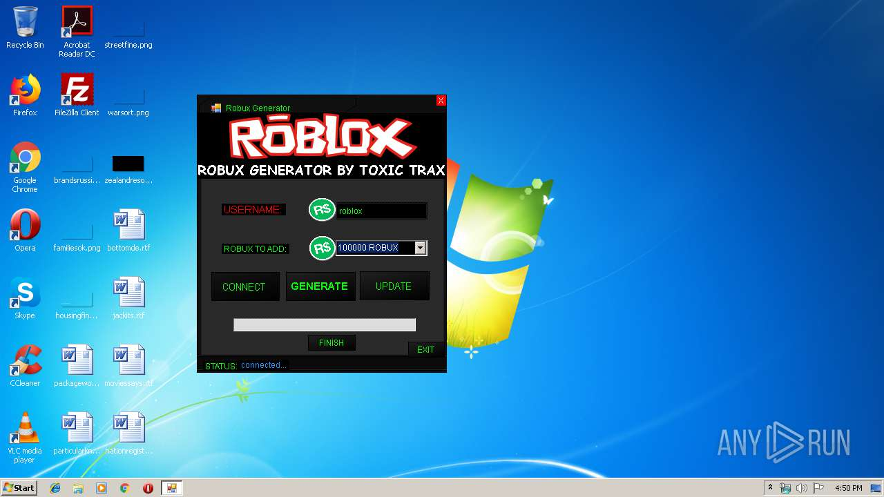 ROBUX GENERATOR HACK exe