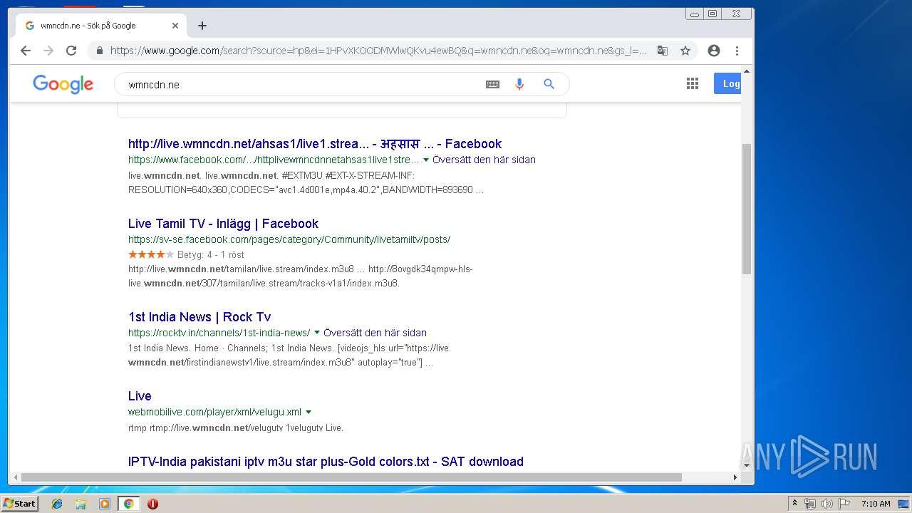 http://8ovgdkm5rmpw-hls-live wmncdn net | ANY RUN - Free Malware
