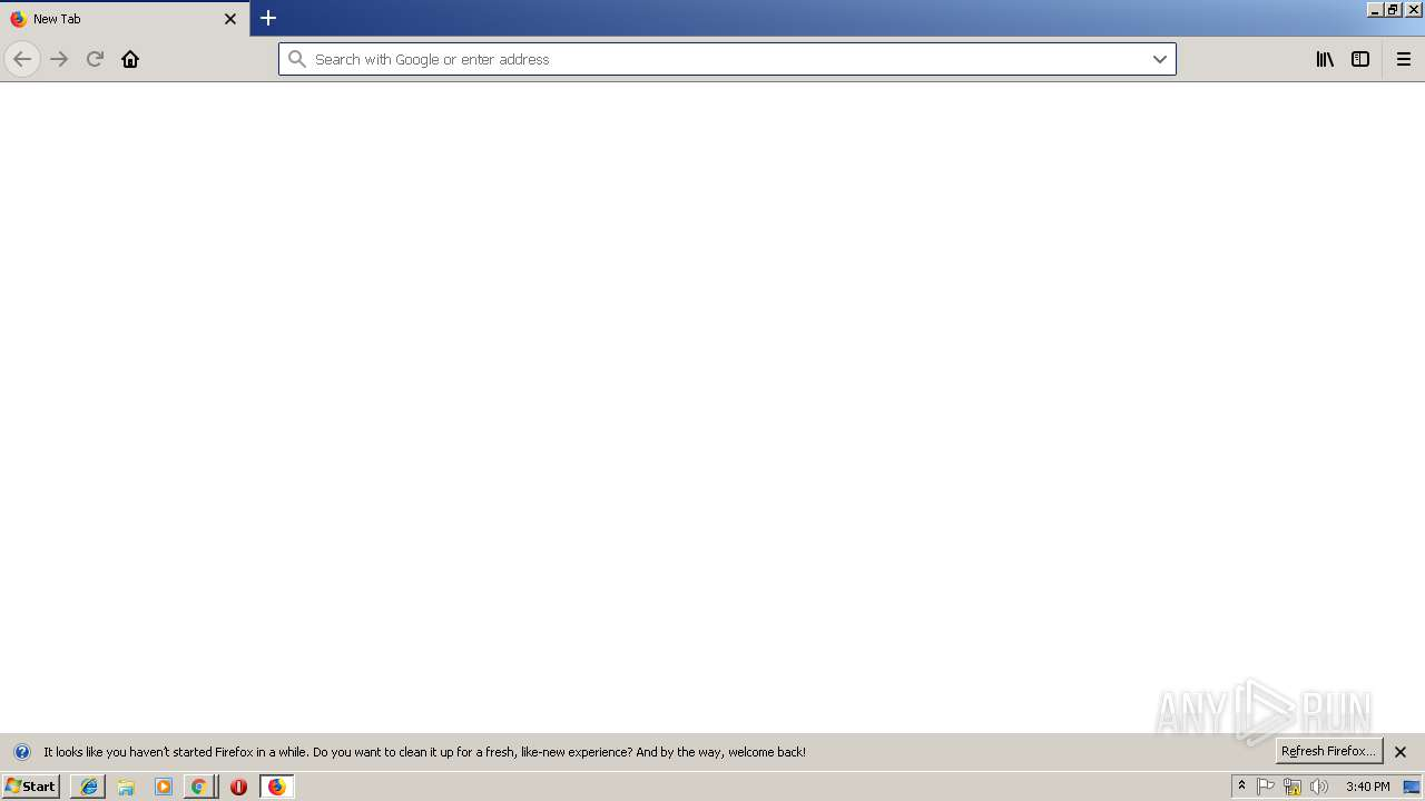 browser update info any run free malware sandbox onlinescreenshot of unknown taken from 80970 ms from task started
