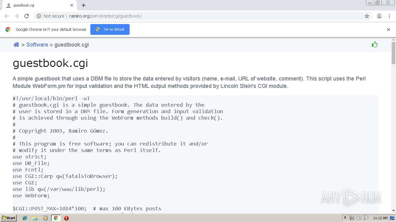 download free perl guestbook