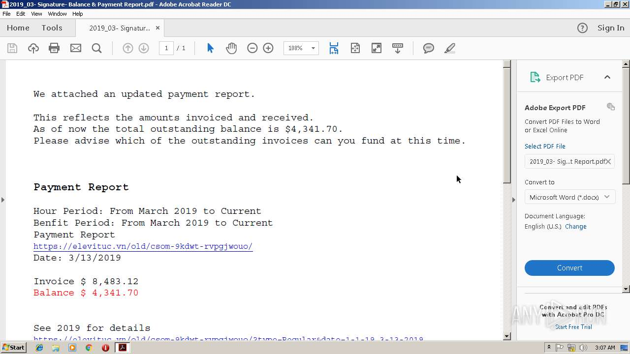 Screenshot of ea3c0884032c0296dac8eb2135b6e8bcf78d59ed6e70fdeee86b358d9e201c7c taken from 80108 ms from task started