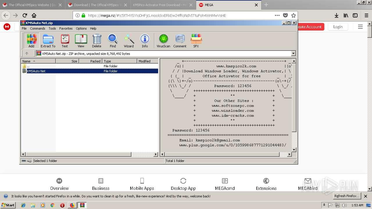 https://kmspico co/ | ANY RUN - Free Malware Sandbox Online