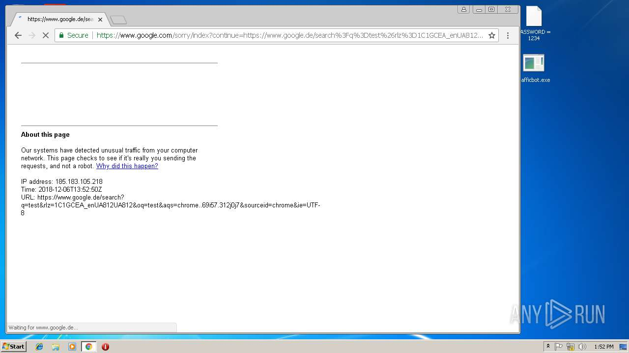 Screenshot of cb62027c32a1849644cd1e25cdd85ebaf70990097d2ca6eac39a6658d242ce42 taken from 116064 ms from task started