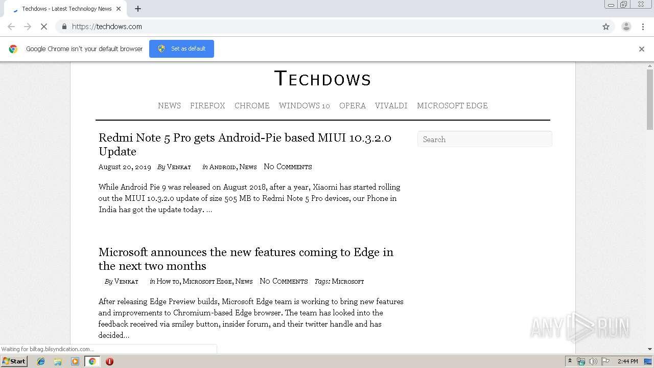 http://techdows com/   ANY RUN - Free Malware Sandbox Online