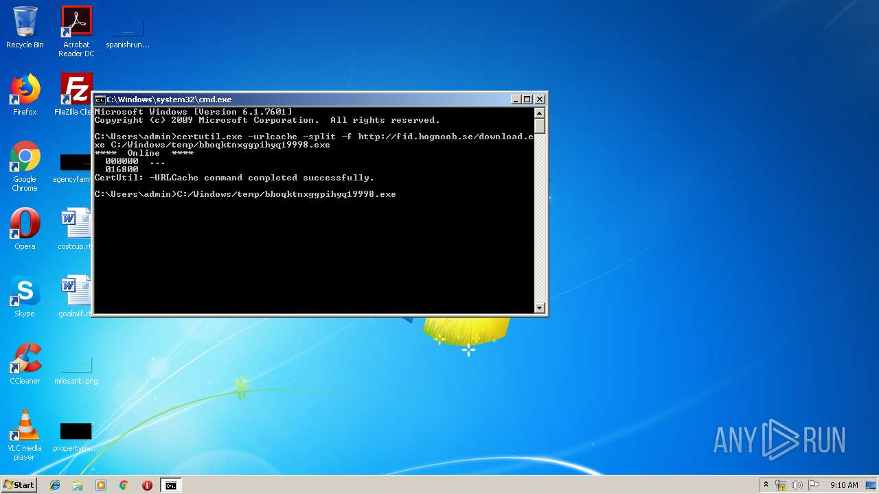 http://fid hognoob se/download exe | ANY RUN - Free Malware