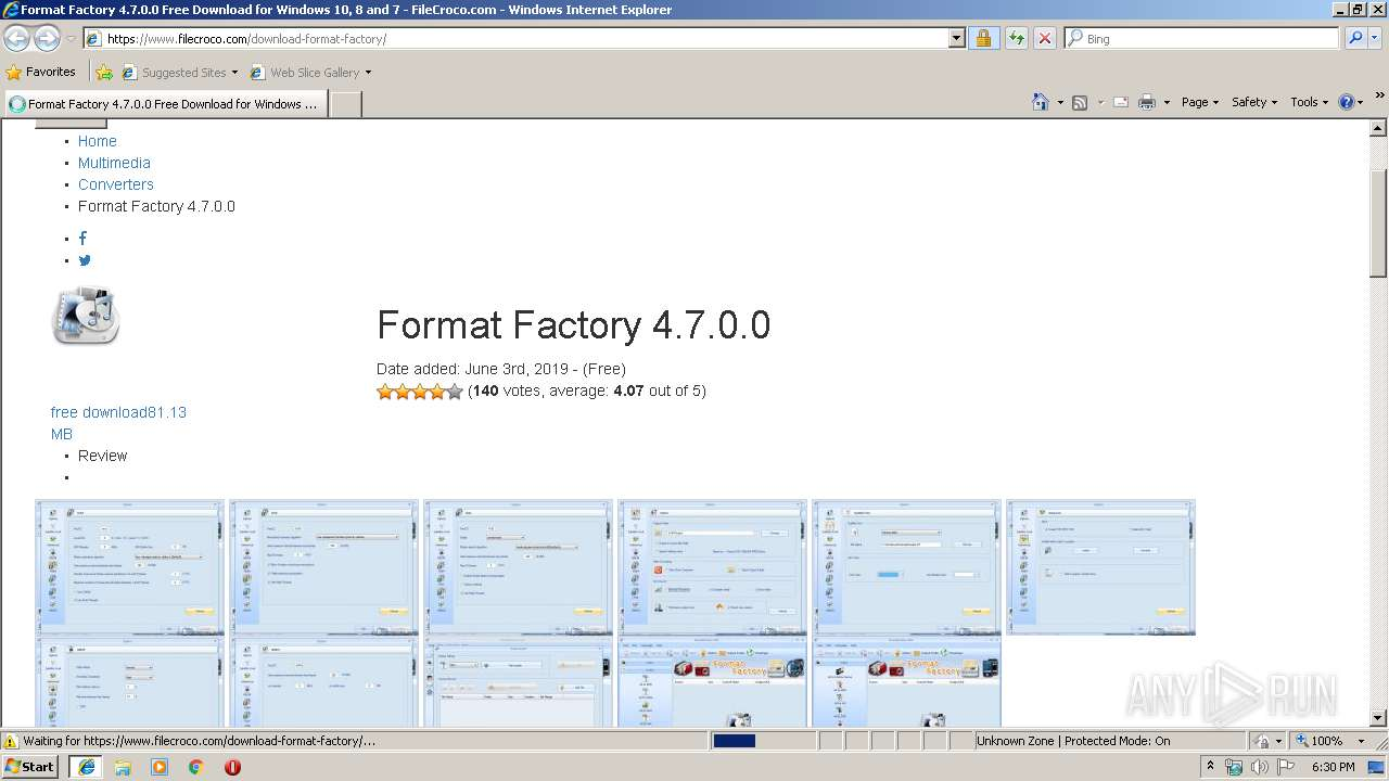 https://www filecroco com/download-format-factory/ | ANY RUN