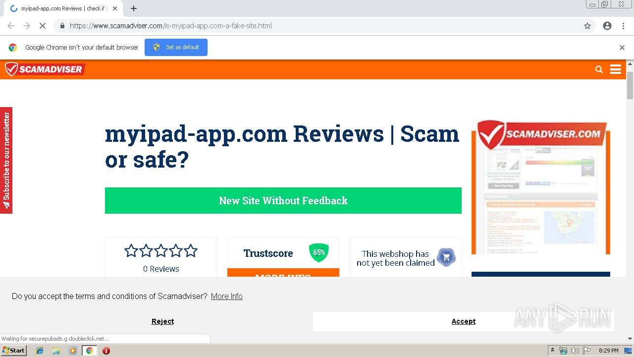 https://www scamadviser com/is-myipad-app com-a-fake-site html | ANY