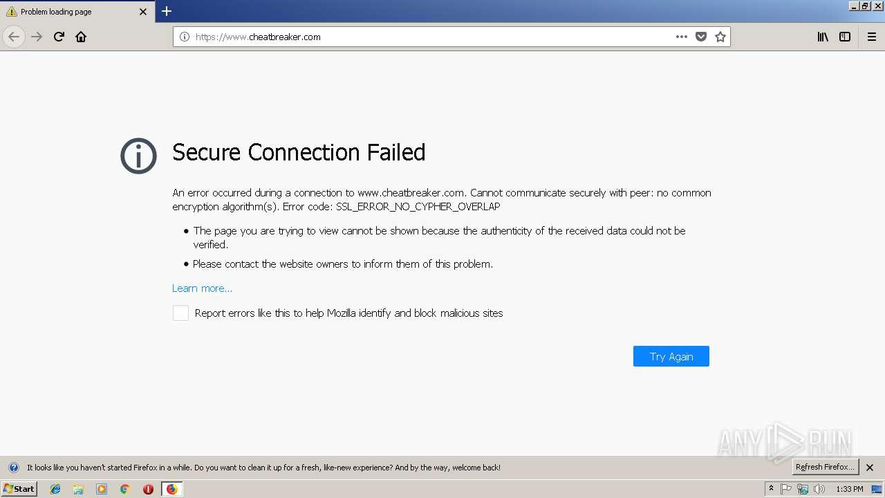 https://www cheatbreaker com | ANY RUN - Free Malware Sandbox Online