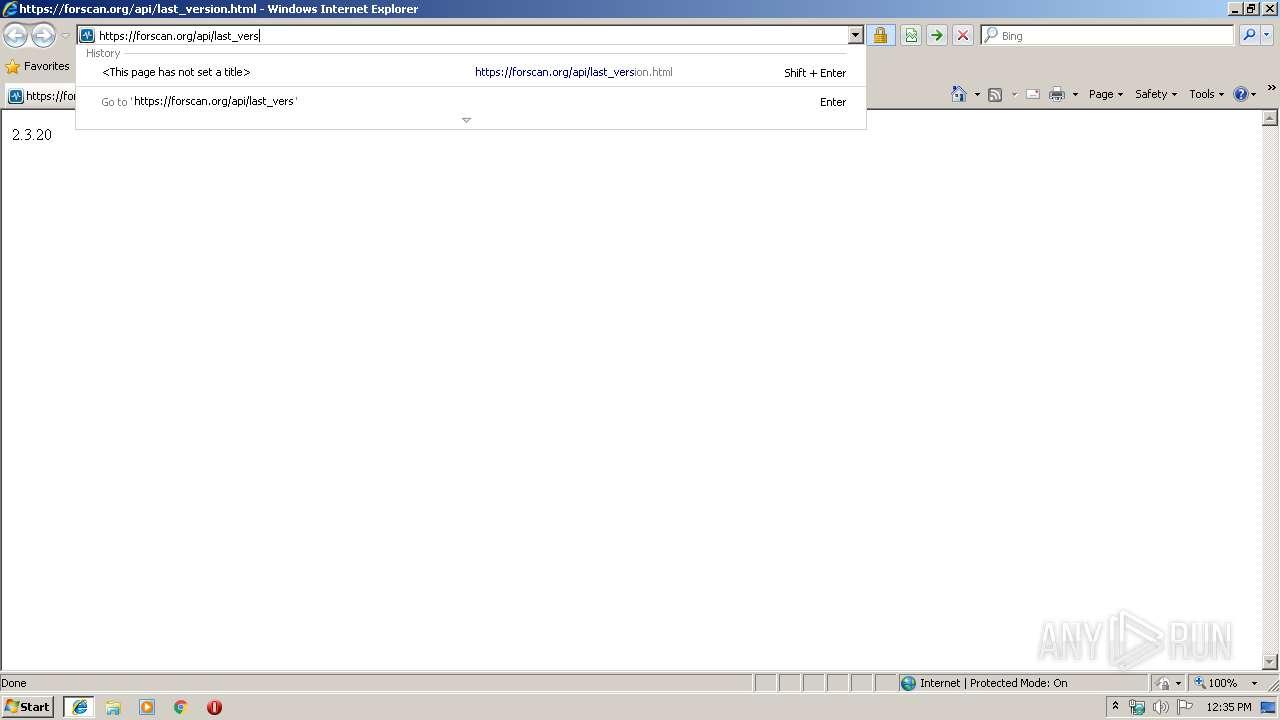 http://forscan org/api/last_version html | ANY RUN - Free Malware