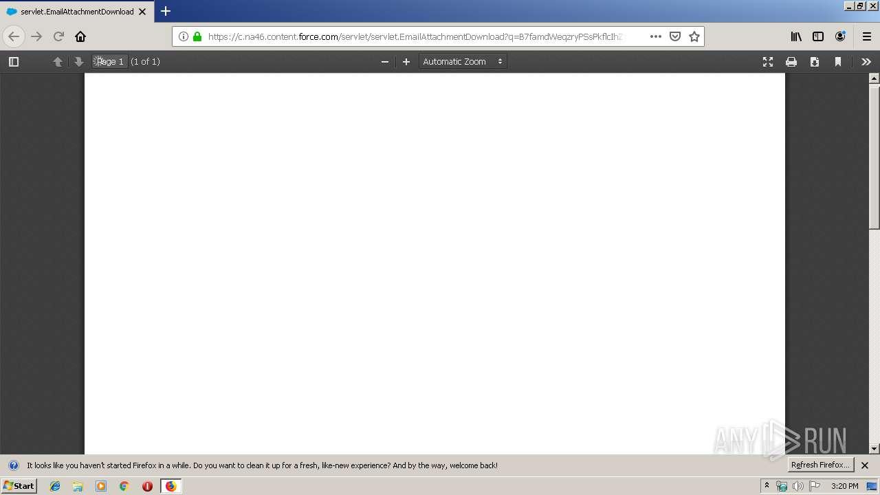 Screenshot of beffdfcffafd26836f717d19c78daa49015ec2fb74d373da72cb00770f5ca809 taken from 39897 ms from task started