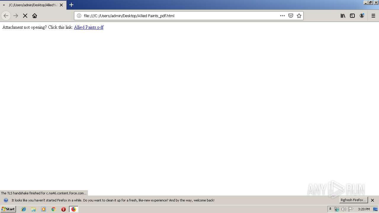 Screenshot of beffdfcffafd26836f717d19c78daa49015ec2fb74d373da72cb00770f5ca809 taken from 36867 ms from task started