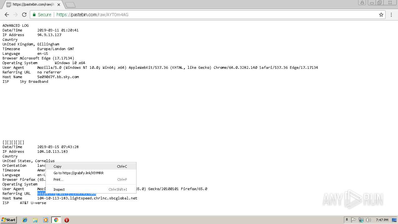 Screenshot of unknown taken from 60584 ms from task started