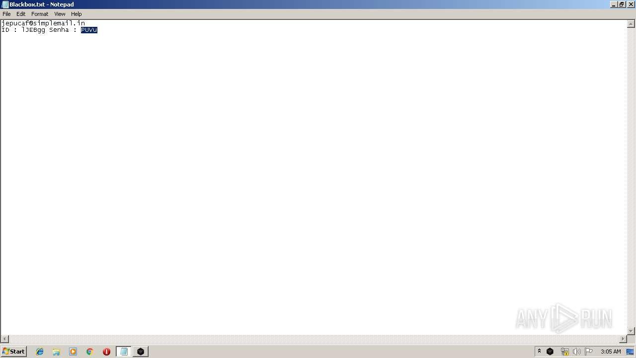 Screenshot of cfb1b2e554a5a65d71bffca9b0ea5d1a9e73d2c7ade3937a8f5a912b6f13c4f6 taken from 76344 ms from task started
