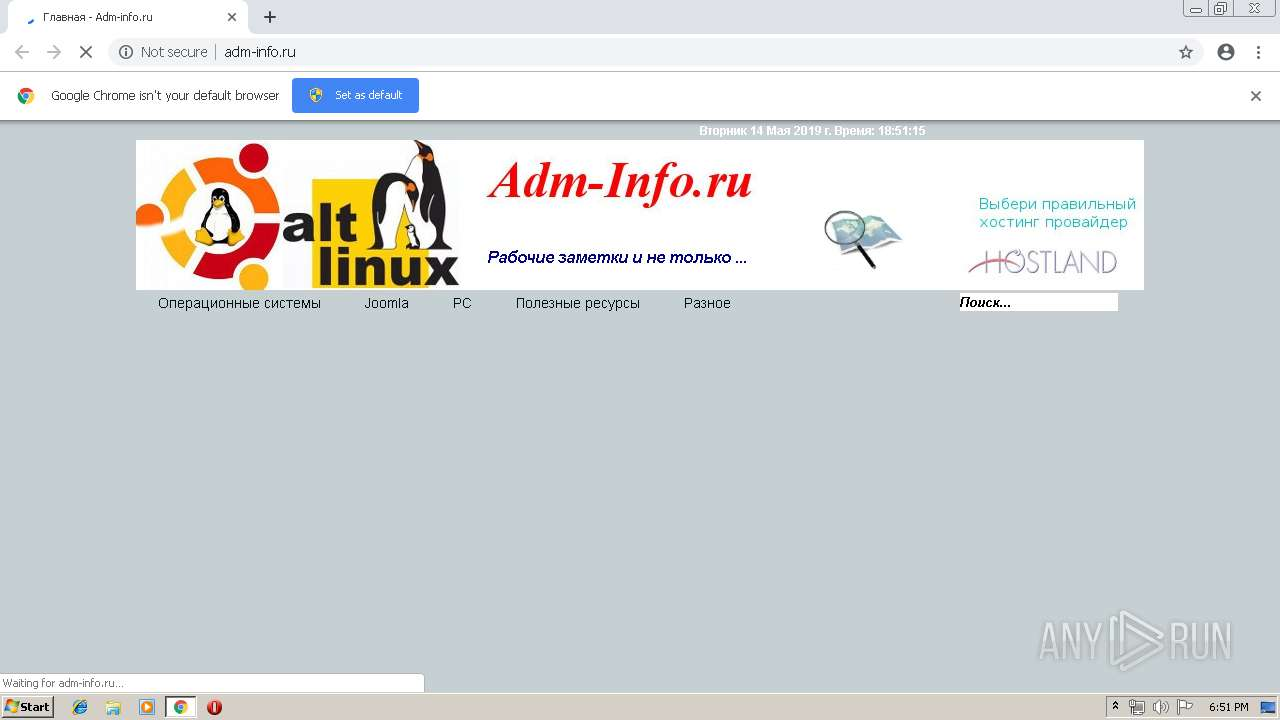 http://adm-info ru/ | ANY RUN - Free Malware Sandbox Online