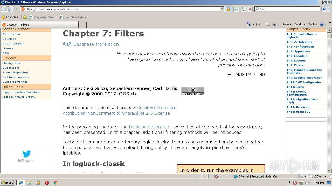 http://logback qos ch/manual/filters html   ANY RUN - Free