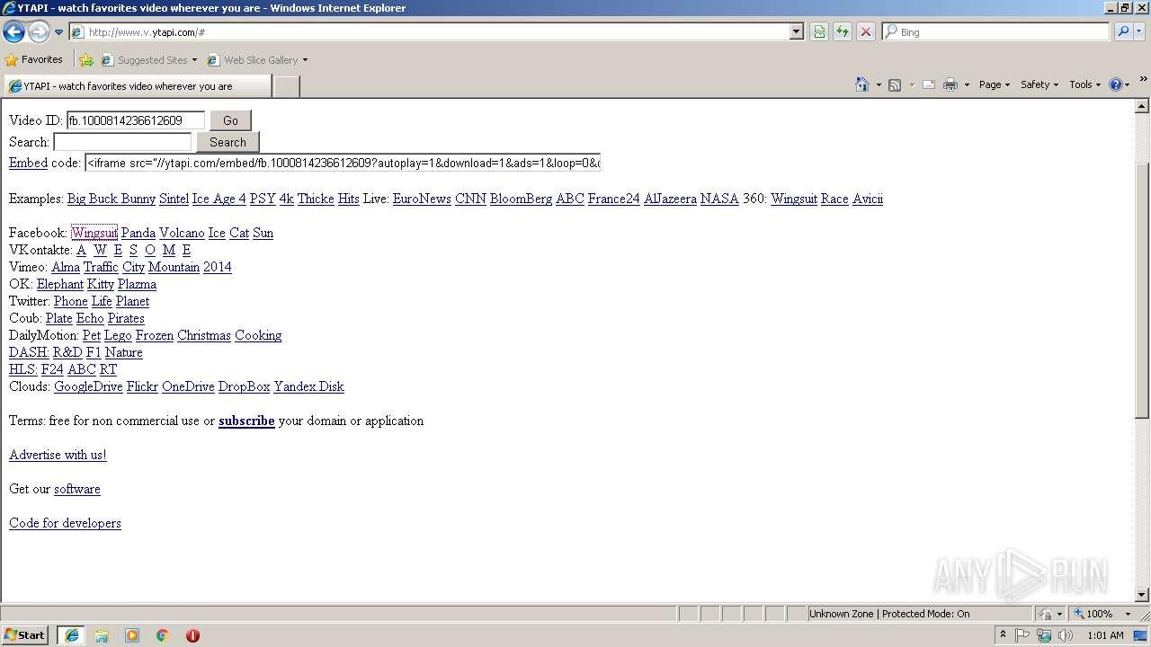 http://www v ytapi com | ANY RUN - Free Malware Sandbox Online