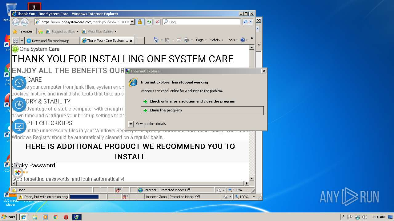 one system care 4.4.0.3 license key