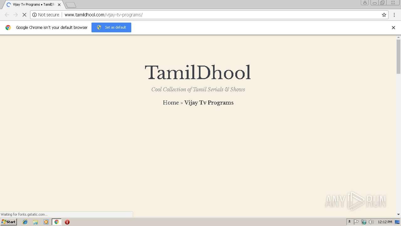 Vijay Tv Website
