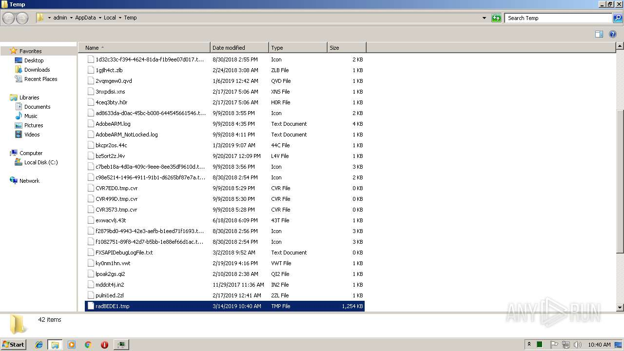 Screenshot of unknown taken from 170313 ms from task started