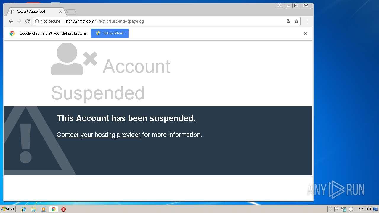 http://irishvanmd.com/cgi-sys/suspendedpage.cgi - interactive analysis -  any.run  any.run