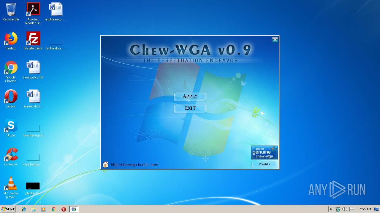 THE WINDOWS TÉLÉCHARGER PATCH 0.9 CRACK.EXE 7 CHEW.WGA